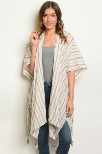 S23-1-3-C1614 BEIGE STRIPES CARDIGAN 3-3