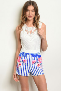 S23-9-2-R13269 WHITE ROYAL SEQUINS ROMPER 2-1