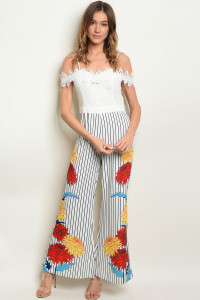 S24-2-4-J17933 WHITE NAVY STRIPES JUMPSUIT 2-2-2