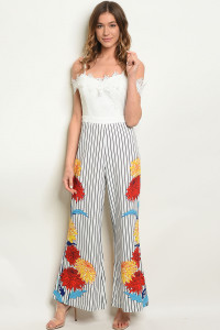 S18-5-2-J17933 WHITE BLACK STRIPES JUMPSUIT 2-2-2