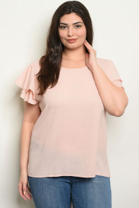 C35-A-1-T1607X BLUSH PLUS SIZE TOP 4-2-1