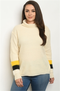 S4-1-3-S9852X IVORY PLUS SIZE SWEATER 2-2-2