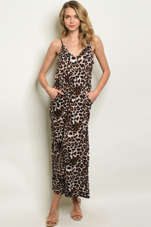 S4-2-1-D11267 BLACK LEOPARD PRINT DRESS 2-2-2