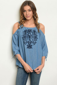 S20-10-2-T2193 BLUE DENIM TOP 3-2-2