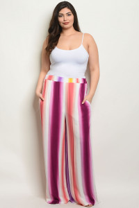 C79-A-1-P70010X PLUM YELLOW PLUS SIZE PANTS 2-2-1