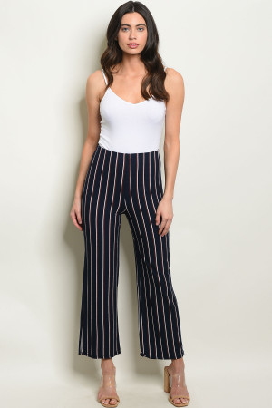 C72-A-2-P859 NAVY STRIPES PANTS 3-2-1
