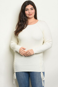 SA4-000-1-S9854X OFF WHITE PLUS SIZE SWEATER 2-2-2