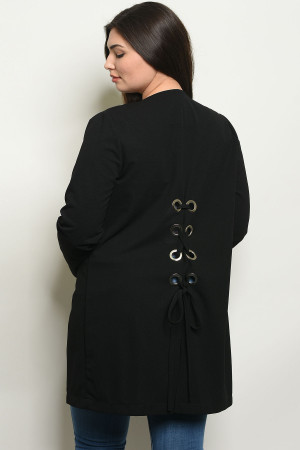 S5-1-1-J9208X BLACK PLUS SIZE JACKET 2-2-2