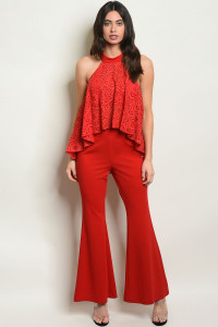 S19-11-2-SET9292 RED TOP & PANTS SET 2-2-2