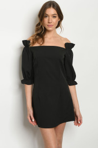 S18-12-4-D1250796 BLACK OFF SHOULDER DRESS 2-2-2