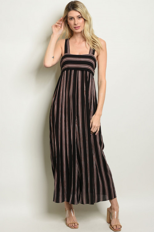 S21-6-3-J3497 BLACK EARTH STRIPES JUMPSUIT 2-2