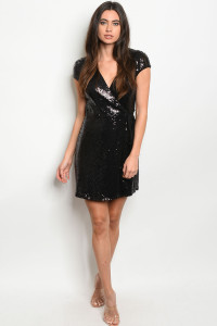 C91-A-4-D18205 BLACK W/ SEQUINS DRESS 2-2-2  ***WARNING: California Proposition 65***