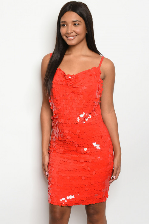 S5-2-2-D24368 RED DRESS 2-2-2  ***WARNING: California Proposition 65***