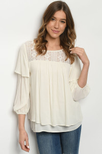 S16-11-1-T4556 IVORY TOP 2-2-2