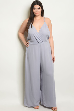 Y-B-J6482X GRAY PLUS SIZE JUMPSUIT 4-3
