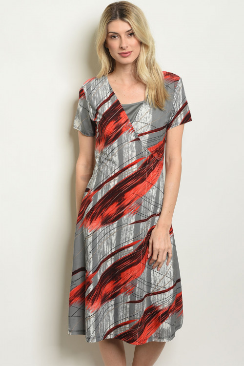 C74-A-1-D2750 GRAY RED DRESS 2-2-2