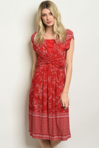 C40-A-7-D2749 RED WHITE DRESS 2-2-2
