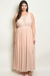 C34-A-2-D16908X BLUSH PLUS SIZE DRESS 2-2-2