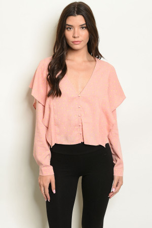 S20-12-4-T10276 PINK WITH DOTS TOP 3-2-1