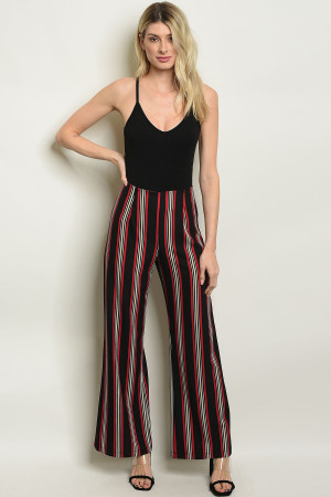 C38-A-7-P3616 BLACK STRIPES PANTS 2-2-2