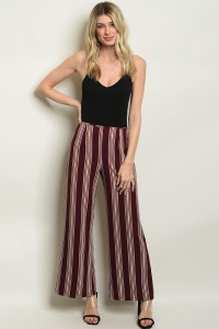 S17-3-4-P3616 WINE STRIPES PANTS 1-1-1