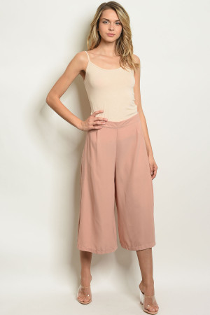 S23-13-5-C3846 BLUSH CAPRI PANTS 2-2-2