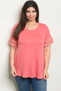 C53-A-7-T2107X PEACH PLUS SIZE TOP 2-2-2