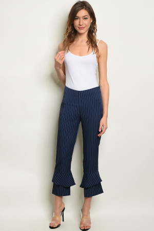 S12-9-4-P3478 NAVY STRIPES PANTS 2-2-2
