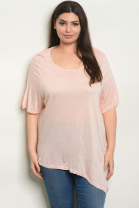 S19-7-3-T63150X PEACH PLUS SIZE TOP 2-2-2
