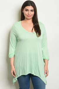 S8-4-1-T62554X MINT PLUS SIZE TOP 2-2-2