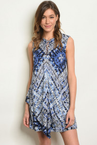 S20-11-6-D1151 BLUE WHITE DRESS 3-2-1