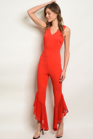 S23-11-6-J7327 RED JUMPSUIT 3-2-1