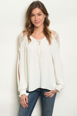 S19-11-5-T5386 OFF WHITE TOP 3-2-1