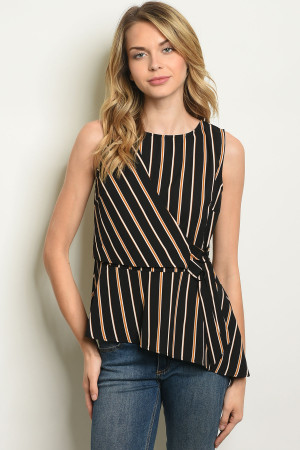 S9-20-5-T1617 BLACK STRIPES TOP 2-2-2
