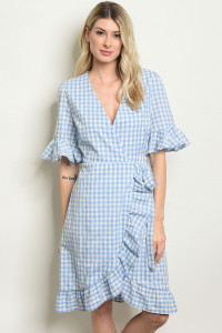S14-12-1-D1120 BLUE CHECKERED DRESS 3-3-2