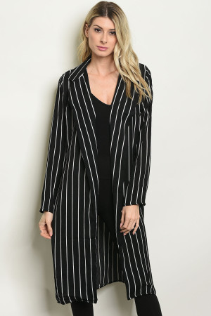 SA4-4-1-C2013 BLACK STRIPES CARDIGAN 2-2-2