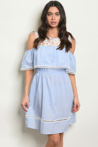 S13-9-3-D15478 BLUE WHITE DRESS 2-2-2