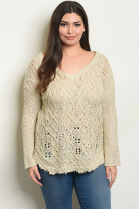 S8-11-2-NA-T30042X TAUPE PLUS SIZE TOP 2-2-2