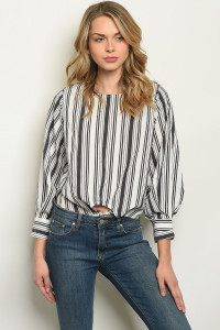 S21-12-5-T16522 OFF WHITE STRIPES TOP 3-2-1
