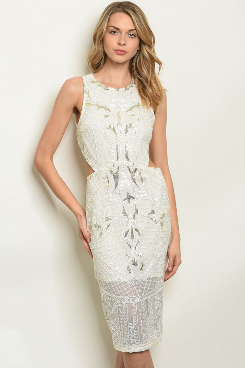 S15-10-2-NA-D22836 IVORY GOLD WITH SEQUINS DRESS 3-2-1