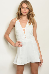 S16-12-5-R73078 WHITE WITH SEQUINS ROMPER 3-2-1