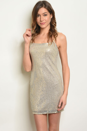 S18-12-2-D2681 NUDE WITH SEQUINS DRESS 3-2-1