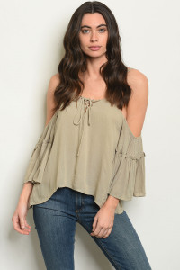 S25-4-5-T3254 OLIVE TOP 2-2-2