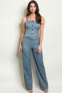S21-1-2-SET9055 DENIM BLUE TOP & PANTS SET 3-2-1