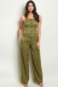 S21-4-2-SET9055 OLIVE TOP & PANTS SET 3-2-1