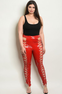 S18-6-2-P90129X RED PLUS SIZE PANTS 2-2-2