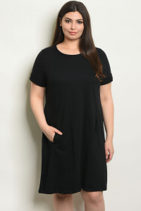 C80-A-5-D14178X BLACK PLUS SIZE DRESS 2-2-2