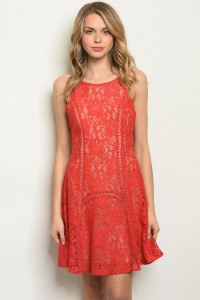 S21-10-2-D598502 RED NUDE DRESS 1-2-2-1