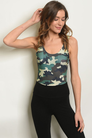 0acc337c4620 Quick View this Product C12-B-2-B3073 GREEN CAMOUFLAGE BODYSUIT 2-2-2