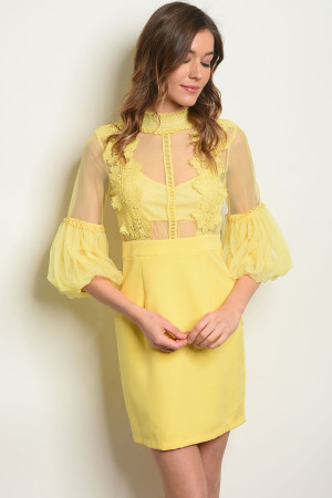 S2-7-2-D2535 YELLOW DRESS 2-2-2